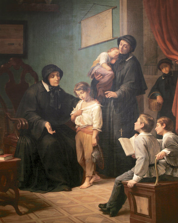 Sisters of Charity by Pietro Gagliardi, 1873. Oil on canvas. Courtesy of the Sisters of Charity of New York